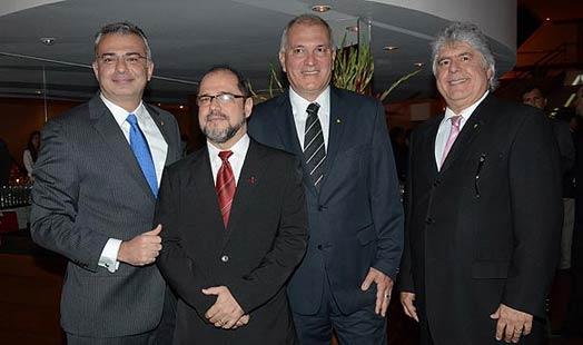 Foto:Paulo Gaba Junior, Pedro Donzelli, Paulo Nemer e João Cláudio Bourg, a cúpula da Abla
