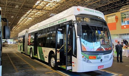 Ônibus elétrico a bateria é apresentado em São Bernardo do Campo  (Foto: Rafael Miotto/G1)