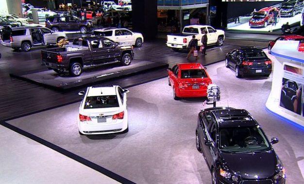 Ostentação à moda automotiva em Detroit