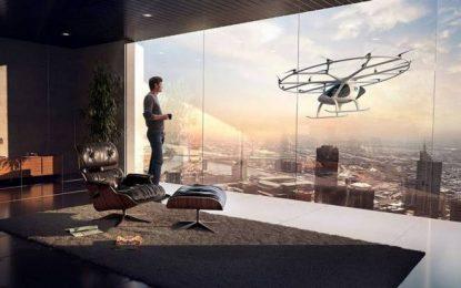 Táxis voadores autônomos começam a ser testados em Dubai