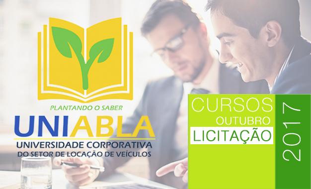 """UNIABLA promoverá em Brasília dia 26/10 o curso """"Licitação"""""""