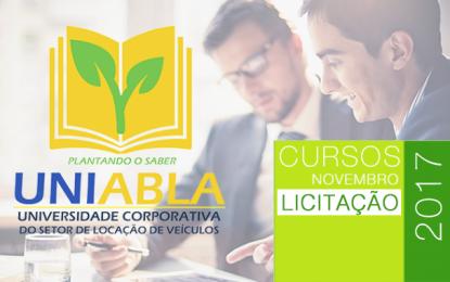 """UNIABLA promoverá no Paraná dia 21/11 o curso """"Licitação"""""""