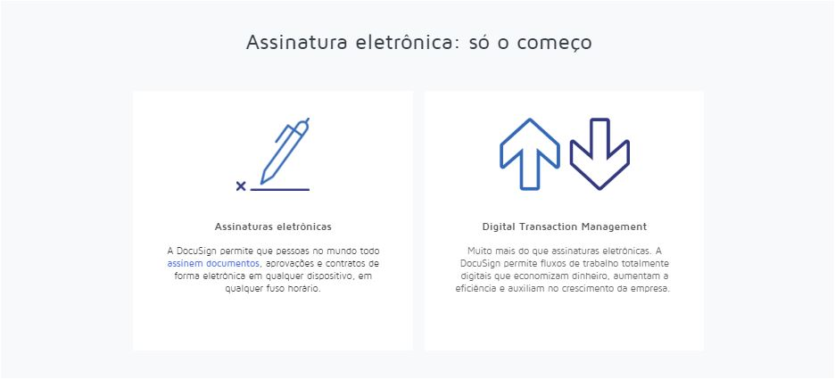 Assinatura eletronica Docusign
