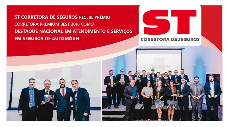 ST Corretora de Seguros recebe Prêmio Corretora Premium Best 2018