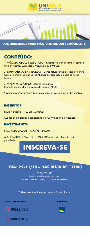UNIABLA   Curso Contabilidade para não contadores em Fortaleza