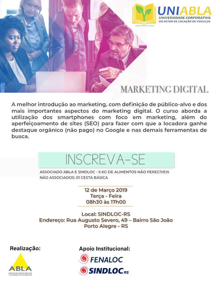 UNIABLA | Curso de Marketing Digital em Porto Alegre - RS