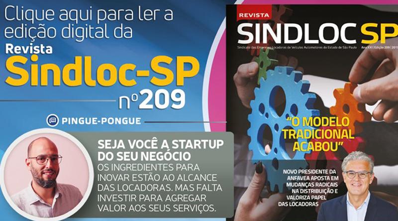Chegou a edição 209 da Revista do SINDLOC-SP