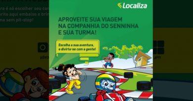 Localiza e Senninha fecham parceria focada em atividades para crianças. Imagem: Landing Page Localiza e Senninha