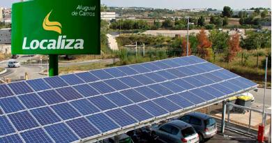 Projeto de instalação de placas solares já ultrapassa a marca de 130 filiais beneficiárias. .Localiza foca em sustentabilidade com uso de energia solar...